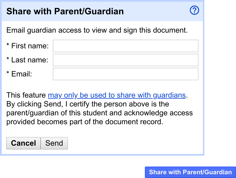 Share documents with parents